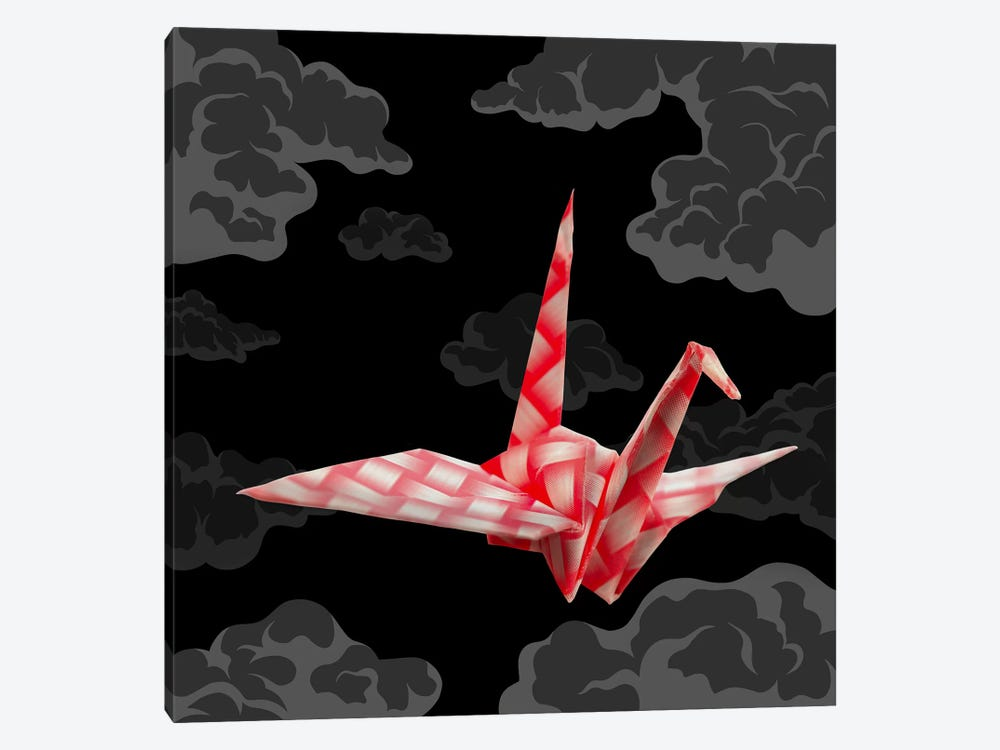 The Fleeting Paper Crane by 5by5collective 1-piece Canvas Art