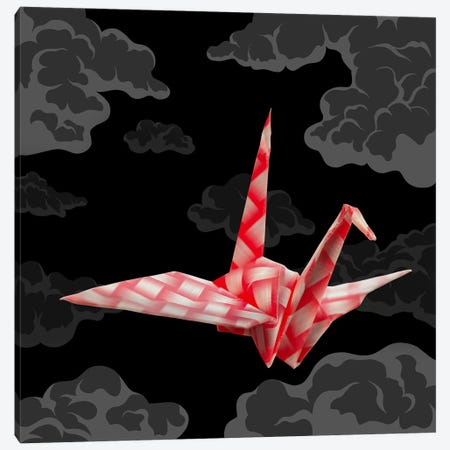 The Fleeting Paper Crane Canvas Print #AOO10} by 5by5collective Canvas Art Print