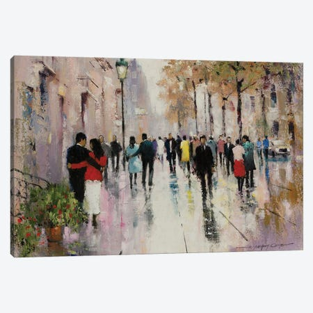 Paris Afternoon II Canvas Print #AOR14} by A. Orme Canvas Print