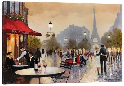 Paris Stroll Canvas Art Print