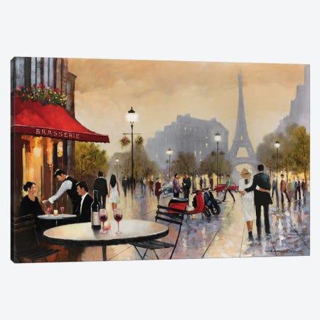 Paris Stroll Canvas Print #AOR15} by E.A. Orme Canvas Art Print