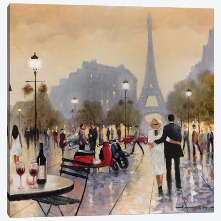 Paris Twilight Canvas Print #AOR16} by E.A. Orme Art Print