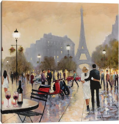 Paris Twilight Canvas Art Print