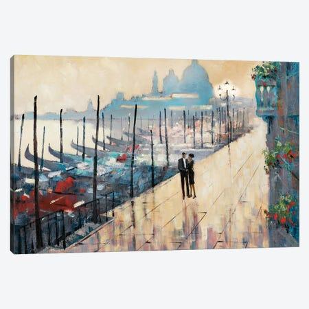 Venice Encounter Canvas Print #AOR17} by E.A. Orme Art Print