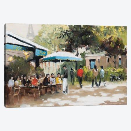 Paris Teal I Canvas Print #AOR1} by E.A. Orme Canvas Wall Art