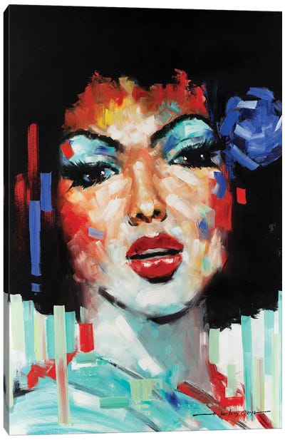 Confetti Girl I Canvas Art Print