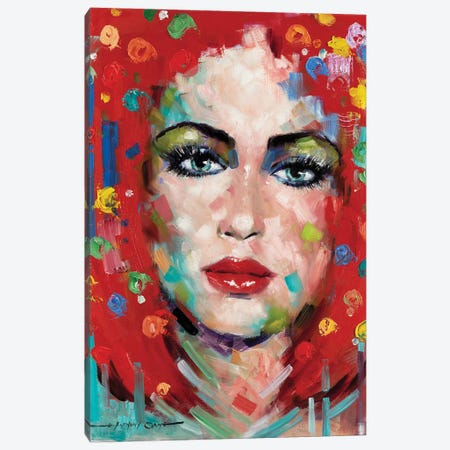 Confetti Girl II Canvas Print #AOR24} by E.A. Orme Canvas Artwork