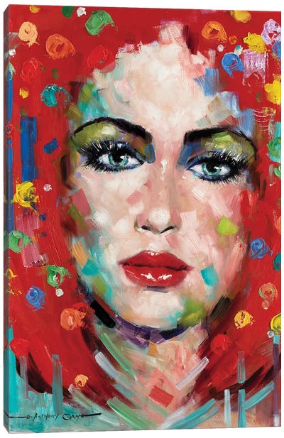 Confetti Girl II Canvas Art Print