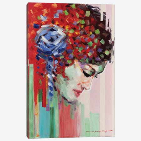 Confetti Girl III Canvas Print #AOR25} by A. Orme Canvas Wall Art