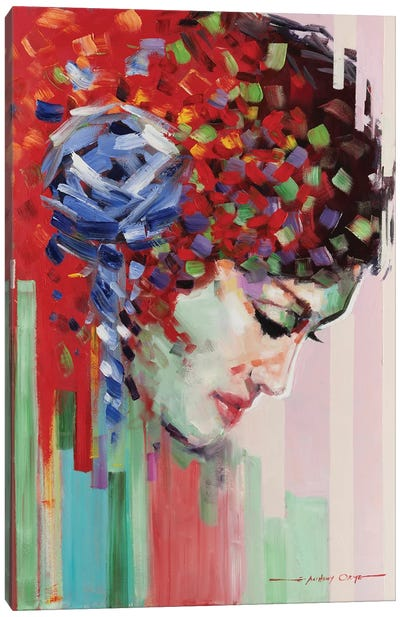 Confetti Girl III Canvas Art Print