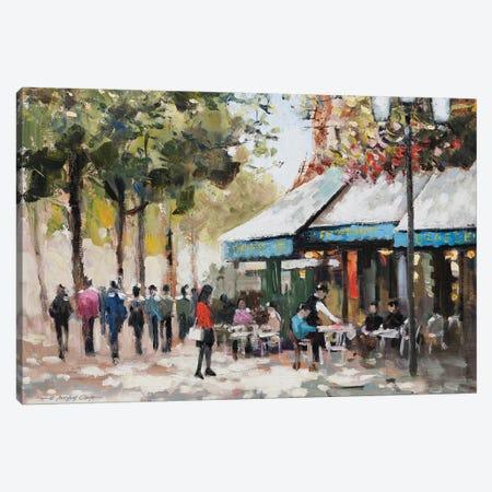 Paris Teal II Canvas Print #AOR2} by E.A. Orme Canvas Art