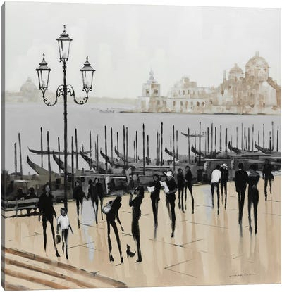 Quiet Gondolas I Canvas Art Print