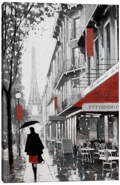 Rainy Paris I Canvas Art Print
