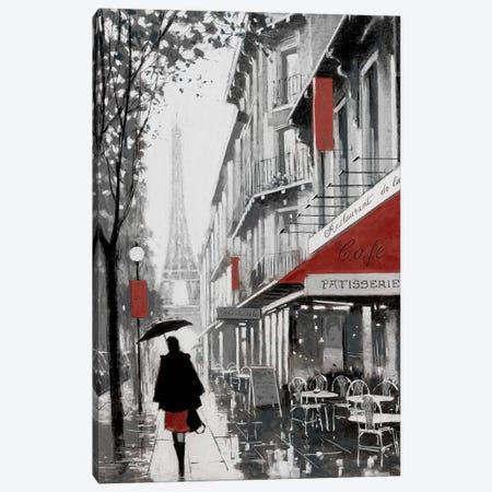 Rainy Paris I Canvas Print #AOR35} by E.A. Orme Canvas Print