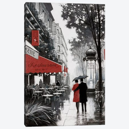 Rainy Paris II Canvas Print #AOR36} by A. Orme Canvas Print