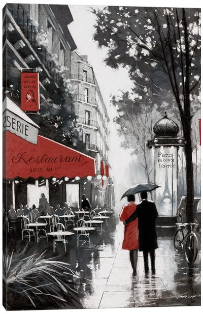 Rainy Paris II Canvas Art Print