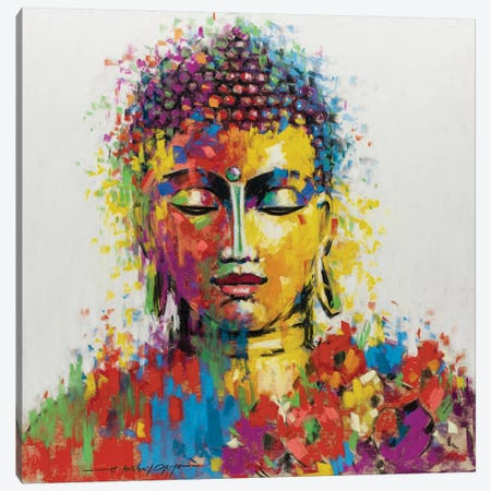 Buddha Canvas Print #AOR47} by A. Orme Canvas Wall Art