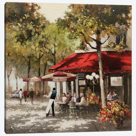 Paris Al Fresco Canvas Print #AOR5} by E.A. Orme Art Print