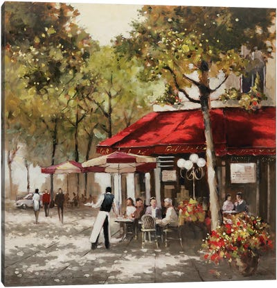 Paris Al Fresco Canvas Art Print