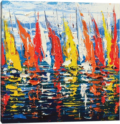 Abstract Seascape XI Canvas Art Print
