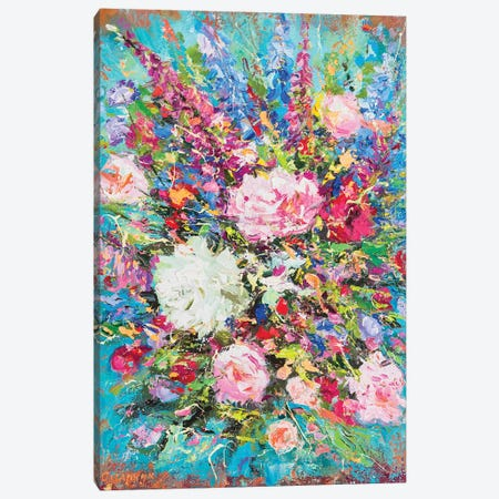Bouquet Canvas Print #AOS11} by Andrej Ostapchuk Canvas Art Print