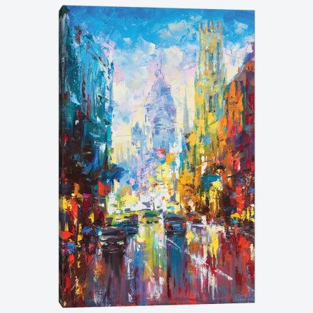 Abstract Cityscape (London) Canvas Print #AOS1} by Andrej Ostapchuk Canvas Print