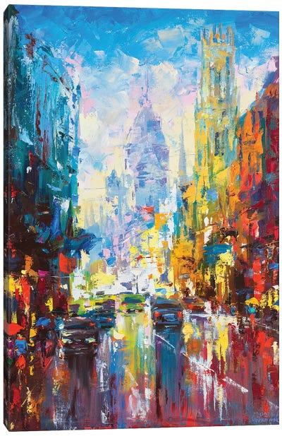 Abstract Cityscape (London) Canvas Art Print
