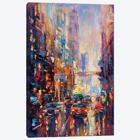 Abstract Cityscape (New York) II Canvas Print #AOS27} by Andrej Ostapchuk Canvas Print
