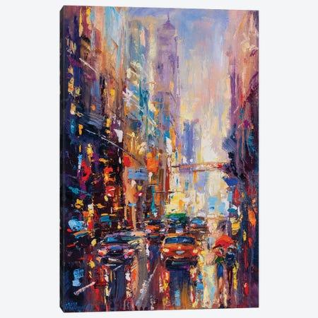 Abstract Cityscape (New York) II Canvas Print #AOS27} by Andrej Ostapchuk Canvas Print
