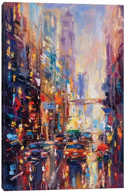 Abstract Cityscape (New York) II Canvas Art Print