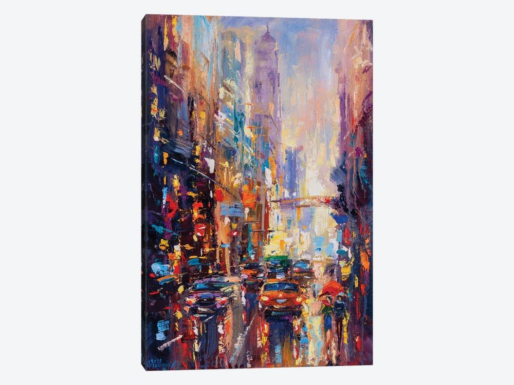 Abstract Cityscape (New York) II by Andrej Ostapchuk 1-piece Canvas Print