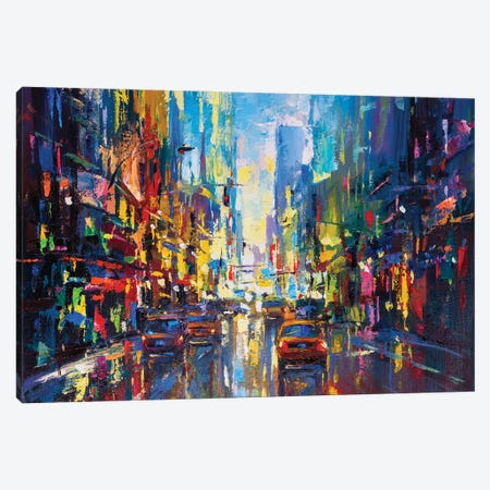 Abstract Cityscape (New York) III Canvas Print #AOS29} by Andrej Ostapchuk Canvas Art