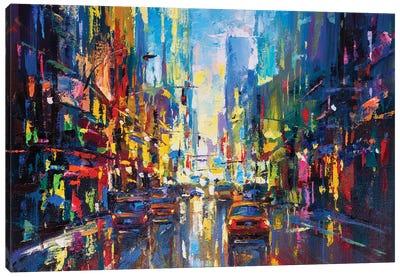 Abstract Cityscape (New York) III Canvas Art Print