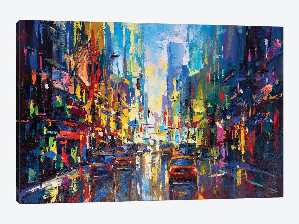 Abstract Cityscape (New York) III by Andrej Ostapchuk 1-piece Art Print