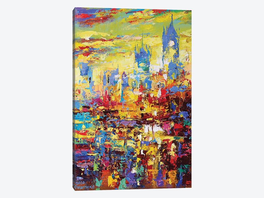 Abstract Cityscape IV by Andrej Ostapchuk 1-piece Canvas Artwork