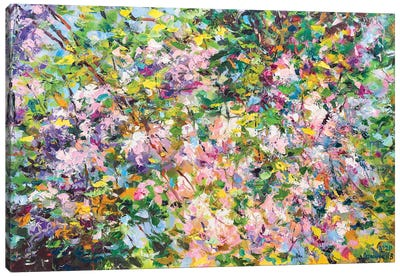 Abstract Composition (spring) Canvas Art Print