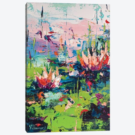 Water Lilies II Canvas Print #AOS46} by Andrej Ostapchuk Art Print