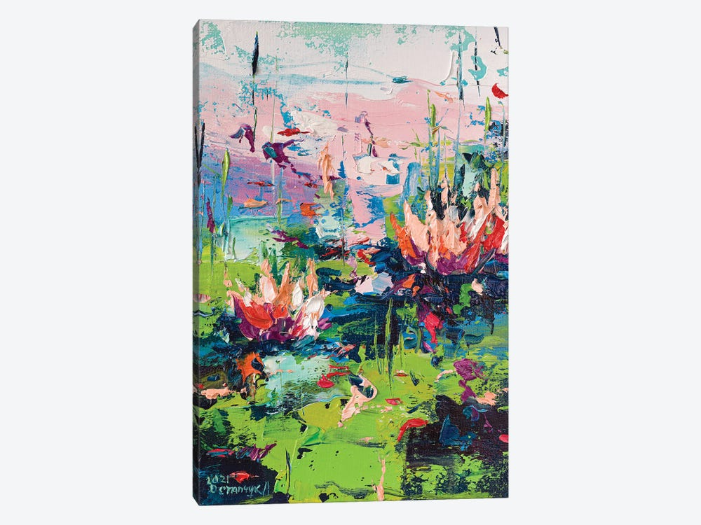 Water Lilies II by Andrej Ostapchuk 1-piece Canvas Artwork