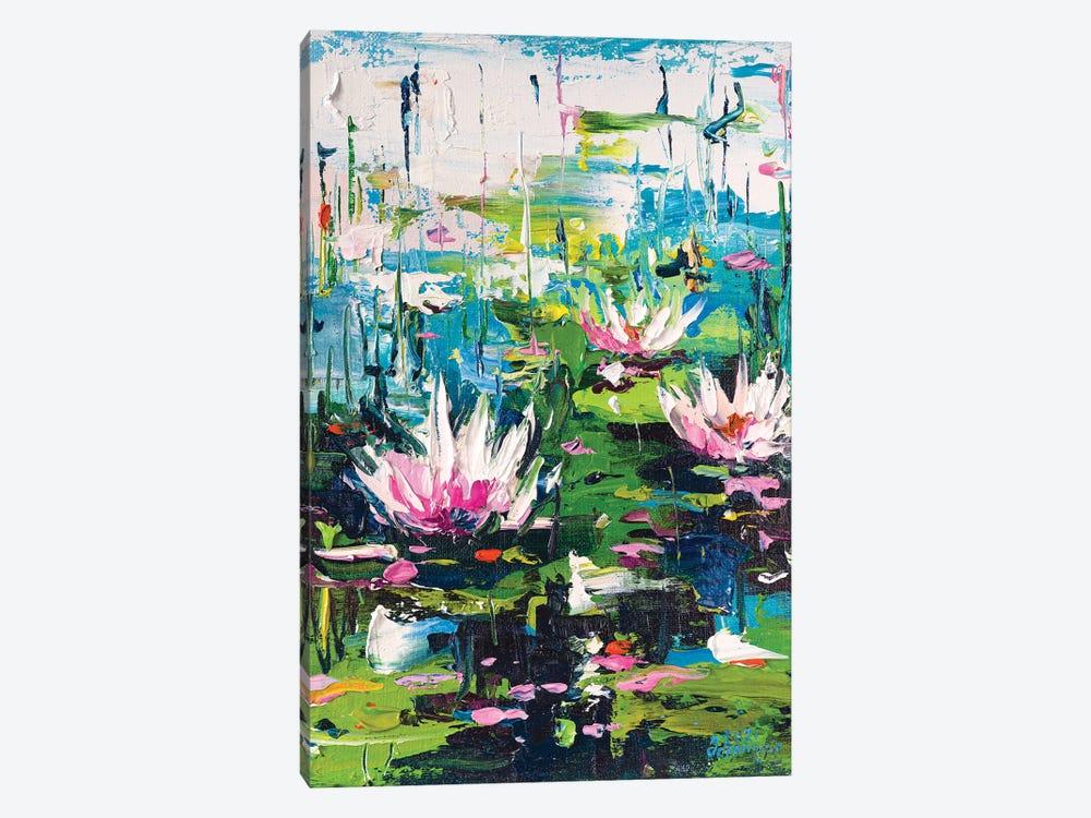Water Lilies III by Andrej Ostapchuk 1-piece Canvas Art Print