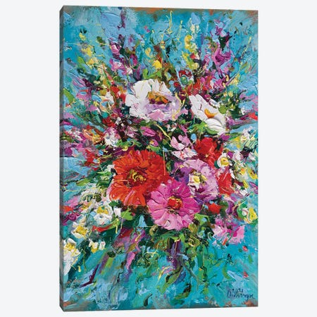 Bouquet IV Canvas Print #AOS48} by Andrej Ostapchuk Canvas Wall Art