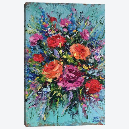Bouquet V Canvas Print #AOS50} by Andrej Ostapchuk Art Print