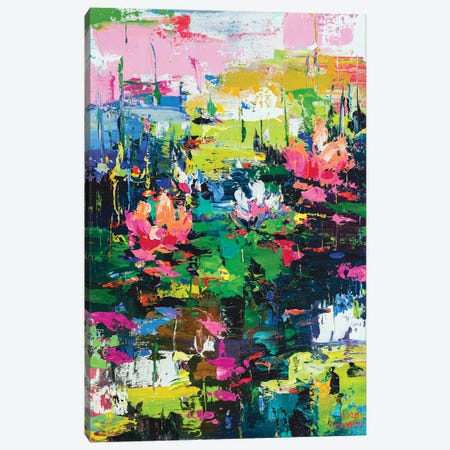 Abstract Landscape (water lilies) Canvas Print #AOS5} by Andrej Ostapchuk Canvas Artwork