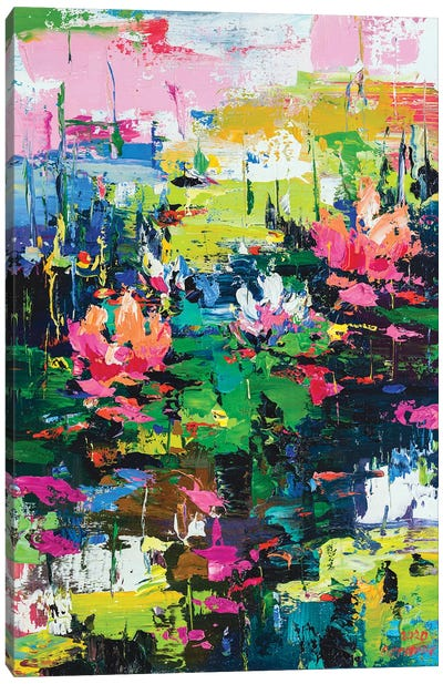 Abstract Landscape (water lilies) Canvas Art Print