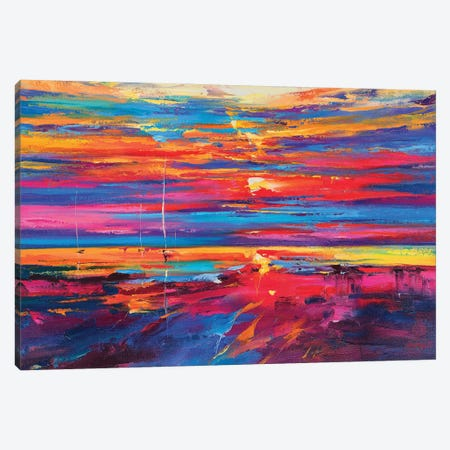 Abstract Seascape V Canvas Print #AOS7} by Andrej Ostapchuk Canvas Wall Art