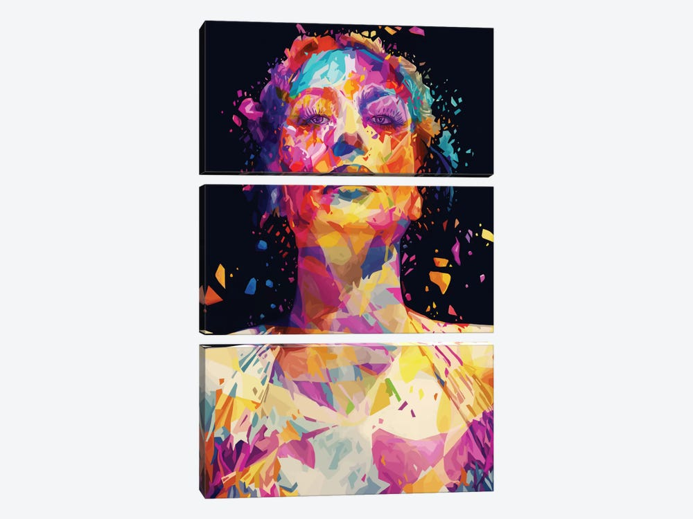 Joan by Alessandro Pautasso 3-piece Canvas Print