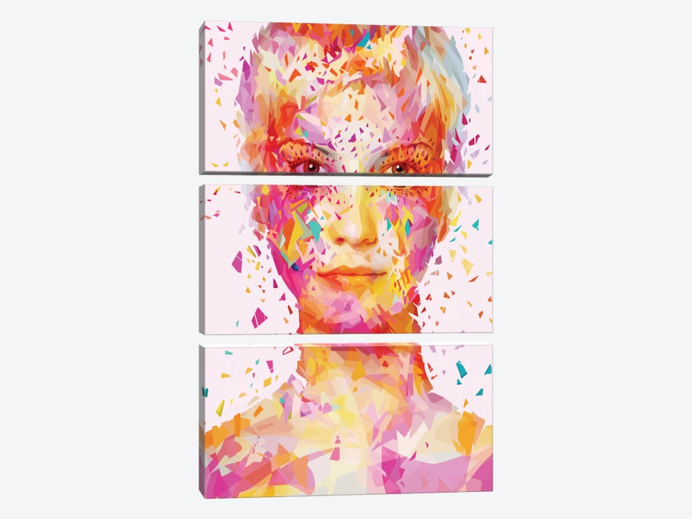 Magenta by Alessandro Pautasso 3-piece Canvas Wall Art