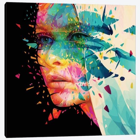 Paint Flowers Canvas Print #APA17} by Alessandro Pautasso Canvas Art Print