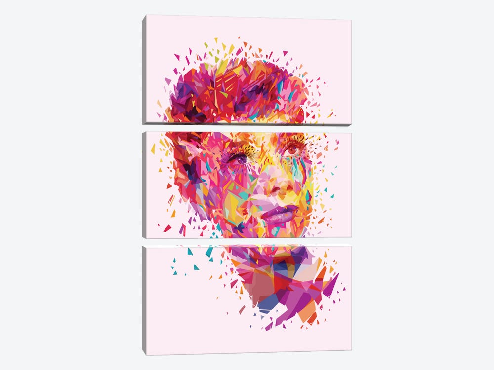 Audrey by Alessandro Pautasso 3-piece Canvas Art