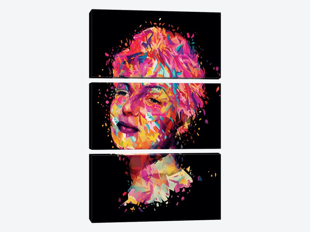 Rita by Alessandro Pautasso 3-piece Canvas Art Print