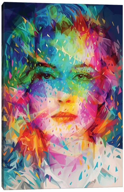 W Canvas Art Print
